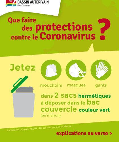 Que faire des protections contre le Coronavirus ?